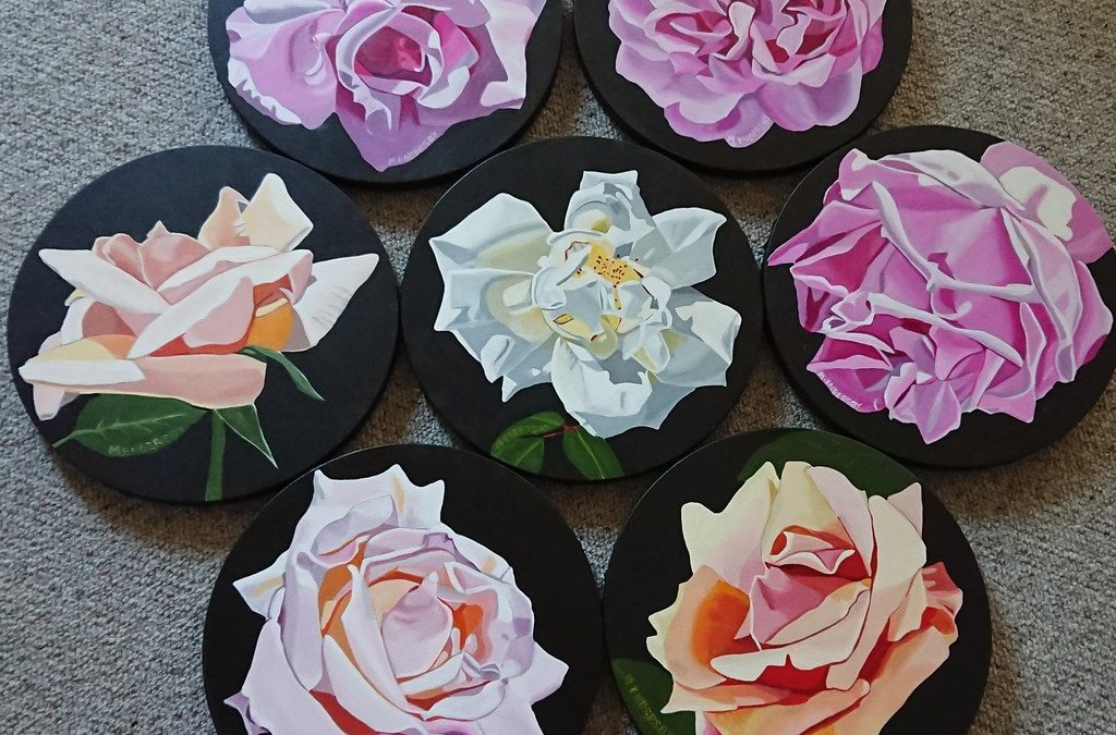Painting Old Garden Roses
